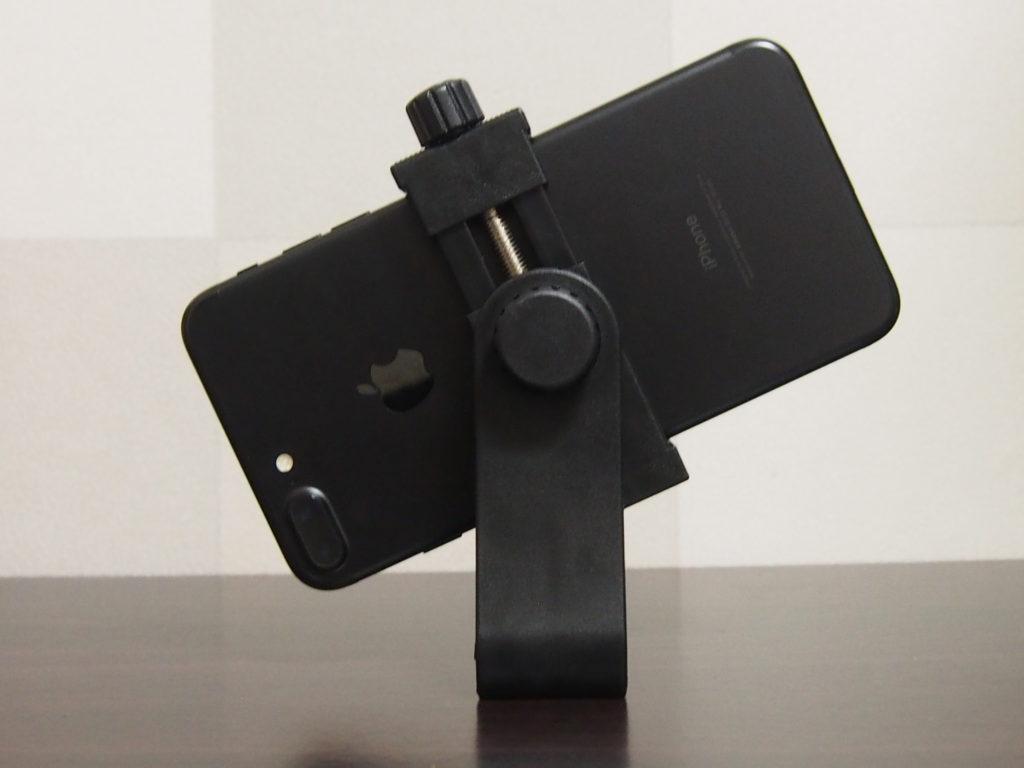 Balckcase iPhone7plusもホールドできる三脚用スマホホルダー