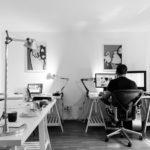 自宅でブログ作業