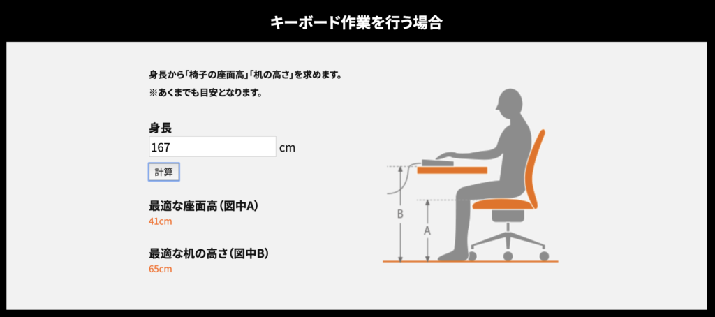 バウヒュッテ椅子、机の高さ
